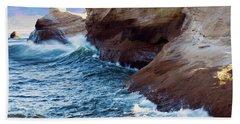 Cape Kiwanda Oregon V4 Bath Towel