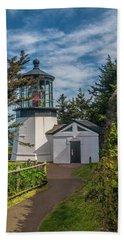 Cape Mereas Lighthouse Bath Towel