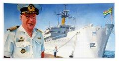 Capt Glen Hallett Bath Towel