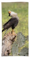Caracara Head Throw Bath Towel