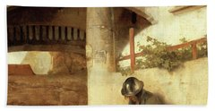 Carel Fabritius The Gate Guard/the Sentry, 1654. Painting. Oil On Canvas. Bath Towel