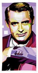 Cary Grant Pop Art Bath Towel
