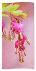 Cascading Bleeding Hearts Bath Towel