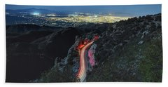 Catalina Highway Moonlight Bath Towel