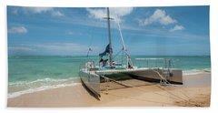 Catamaran On Waikiki Bath Towel