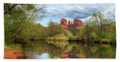 Cathedral Rock Reflection Bath Towel
