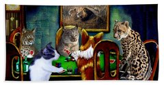 Cats Are Wild Poker Bath Towel