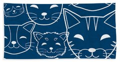 Cats- Art By Linda Woods Bath Towel