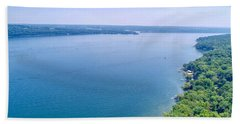 Cayuga From Above Bath Towel