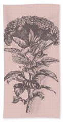 Celosia Blush Pink Flower Bath Towel