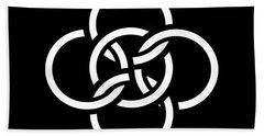 Celtic Five Fold Symbol 2 Bath Towel