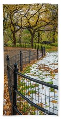 Central Park Fence Bath Towel