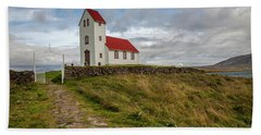 Chapel Of Iceland Bath Towel