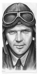Charles Lindbergh Bath Towel