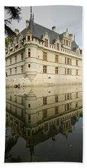 Bath Towel featuring the photograph Chateau Azay-le-rideau, by Stephen Taylor