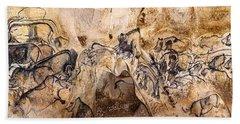 Chauvet Lions And Rhinos Bath Towel
