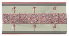 Cheery Coral Pink Bath Towel