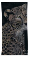 Cheetah Portrait In Pastels Hand Towel