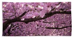 Cherry Blossom Tree Panorama Hand Towel