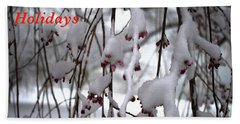 Cherry Blossoms In Snow Hand Towel