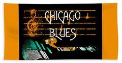 Chicago Blues Music Bath Towel