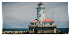 Chicago Harbor Lighthouse Hand Towel