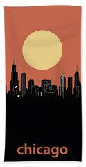 Chicago Skyline Minimalism 4 Hand Towel