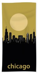 Chicago Skyline Minimalism 5 Hand Towel