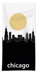 Chicago Skyline Minimalism Hand Towel