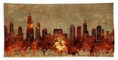 Chicago Skyline Vintage 2 Hand Towel