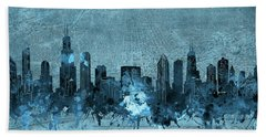 Chicago Skyline Vintage 4 Hand Towel
