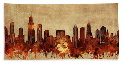 Chicago Skyline Vintage Hand Towel