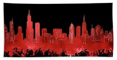 Chicago Skyline Watercolor 5 Hand Towel