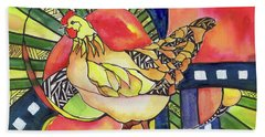 Chicken Red Bath Towel