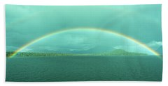 Chilean Fjord Rainbow Hand Towel