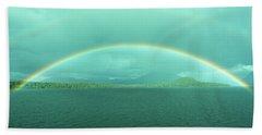 Chilean Fjord Rainbow Bath Towel