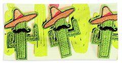 Chili Con Cacti Hand Towel