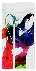 Chili Peppers Watercolor Hand Towel