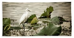 Chinese Egret Hand Towel