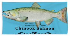 Chinook Salmon Disrupted Bath Towel