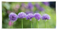 Chive Flowers Hand Towel