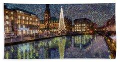 Christmas Hamburg Hand Towel