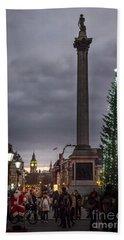 Christmas In Trafalgar Square, London Bath Towel