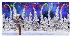 Christmas Lights Bath Towel