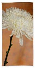 Chrysanthemum On Canvas Bath Towel