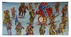 Civil War Battle, Spanish Fort, Spanish Fort,mobile Bay, Alabama Hand Towel