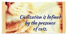 Hand Towel featuring the photograph Civilization by Judy Kennedy