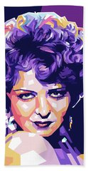 Clara Bow Pop Art Bath Towel