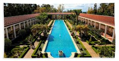 Classic Awesome J Paul Getty Architectural View Villa  Bath Towel