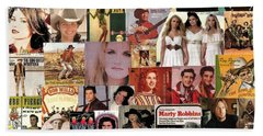 Classic Country Music Collage 1 Bath Towel
